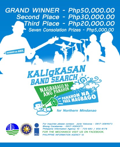Philippine Information Agency 10 - Northern Mindanao - KaligKasan Band Search