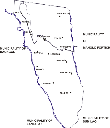 Ph_bukidnon_libona_political_map